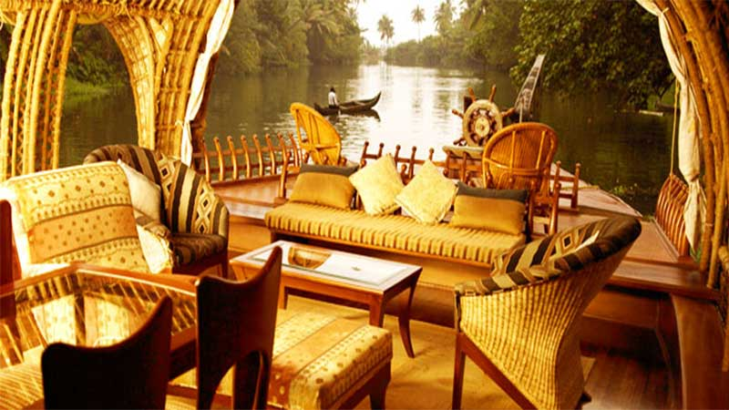 Super Luxury Houseboat Cruise At Alleppy Backwaters,1night-2days